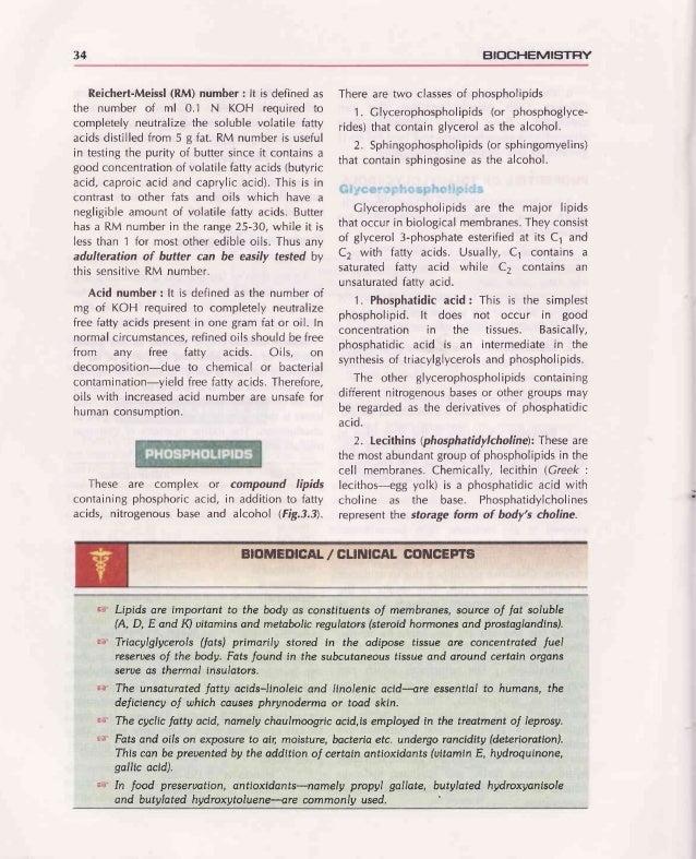 Chapter 3 : LIPIDS 35 oll g cH2-o-c-R1 ill RI-C-O-CH .:1 -l CH2-i-'-r'- i't (1)Phosphatldicacid ,11 ill i tz)Leclthln(phos...