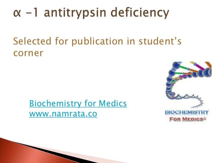 Selected for publication in student'scorner   Biochemistry for Medics   www.namrata.co