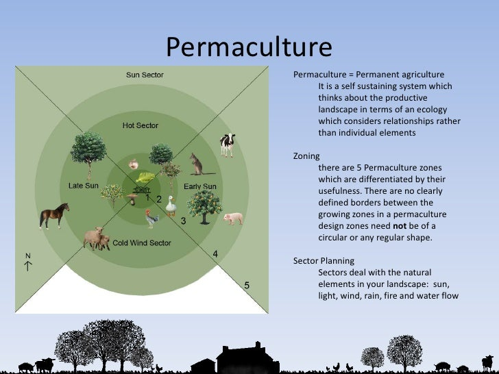 Permaculture<br />Permaculture = Permanent agriculture<br />It is a self sustaining system which thinks about the producti...