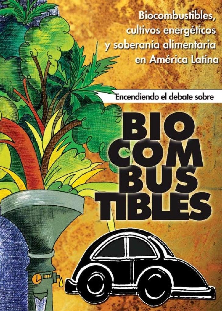 Biocombustibles, Cultivos Energéticos y soberanía alimentaria en América Latina Encendiendo el debate sobre los biocombust...