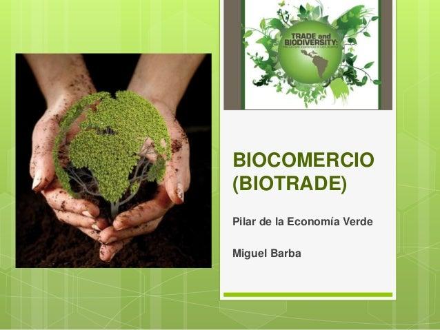 BIOCOMERCIO (BIOTRADE) Pilar de la Economía Verde Miguel Barba