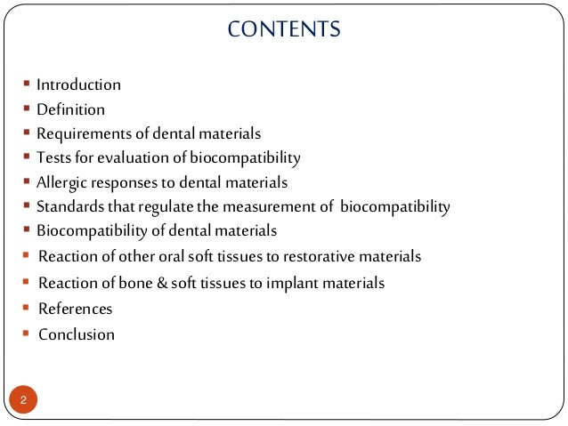 Biocompatibility - an overview | ScienceDirect Topics