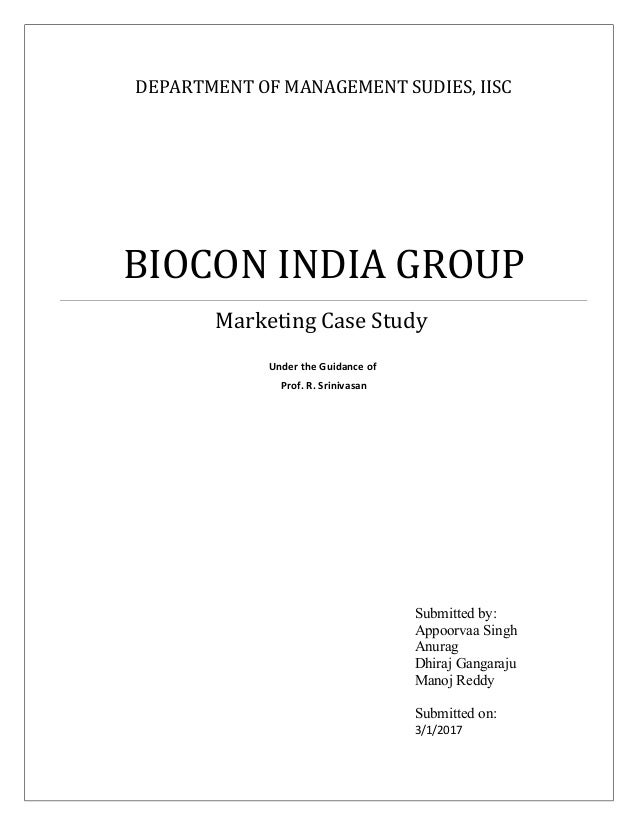 Biocon India Case Solution and Analysis, HBS Case Study ...