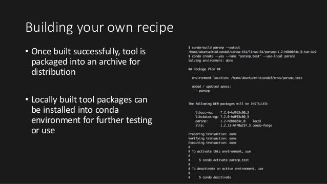 Bioconda and the Conda Package Manager