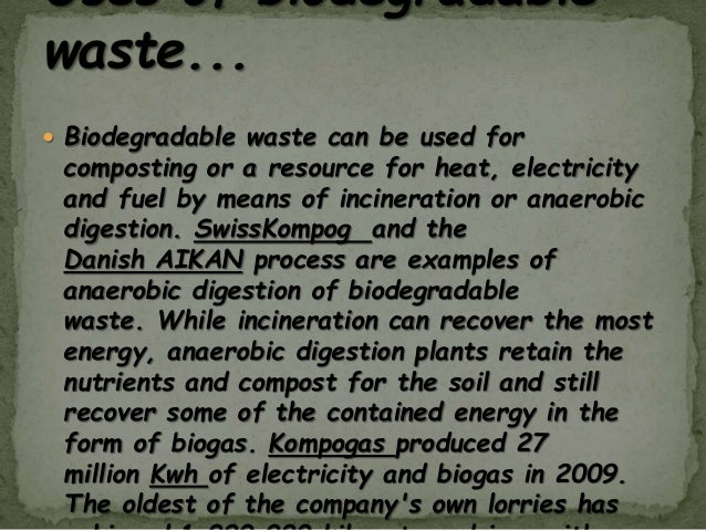 project on biodegradable and nonbiodegradable waste