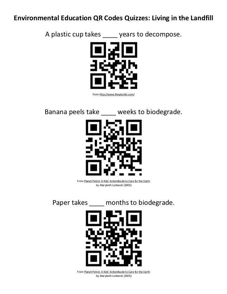 Biodegradable QR Code Math Graph