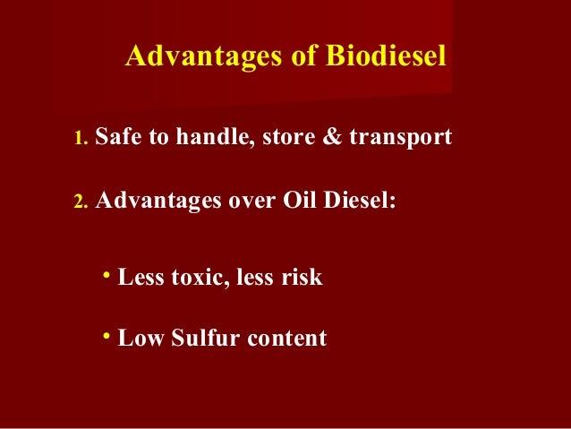 advantages and disadvantages of ethanol and biodiesel environmental sciences essay Carbon monoxide essay  fe-c liquid solution school of mechanical and building sciences,  environmental health ethanol as an alternative energy source.