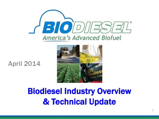 Biodiesel Industry Overview & Technical Update April 2014 1