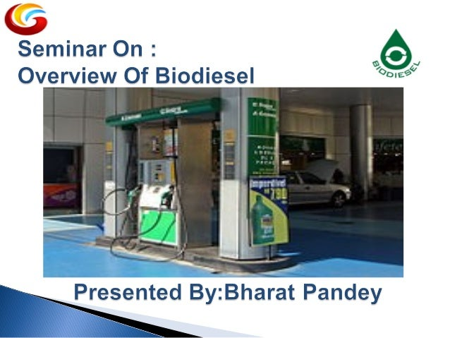 What is Biodiesel ? Biodiesel refers to a non-petroleum-based diesel fuel consisting of short chain alkyl (methyl or ethyl...