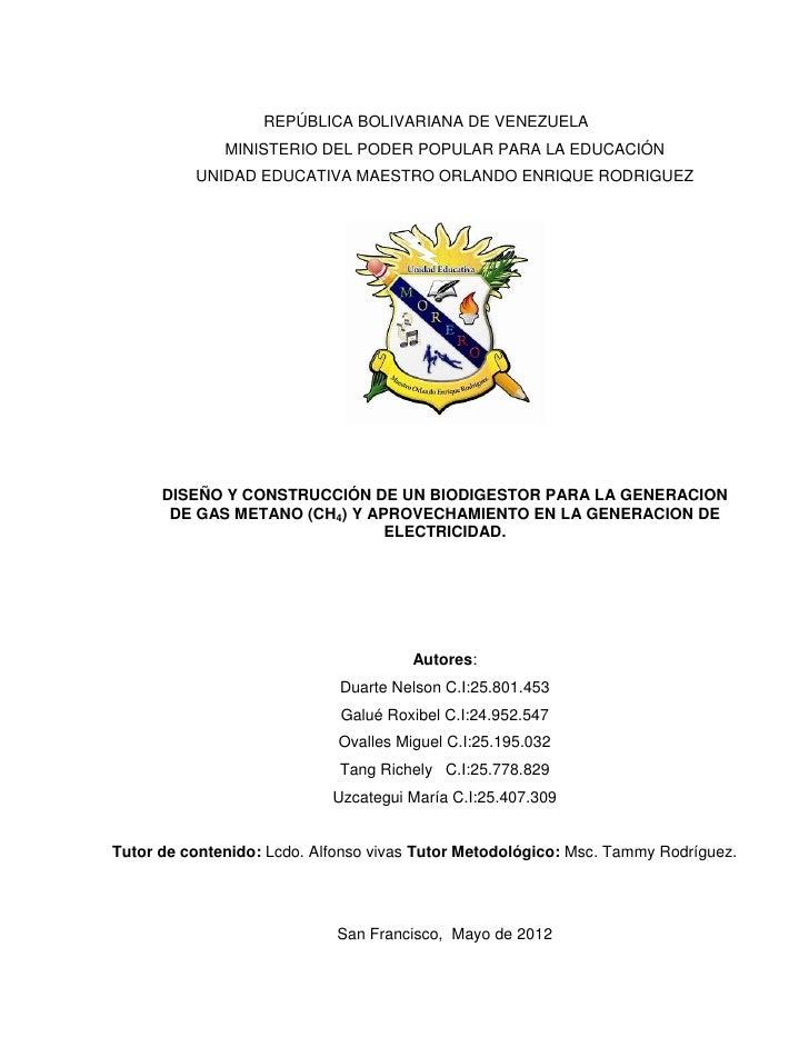 REPÚBLICA BOLIVARIANA DE VENEZUELA              MINISTERIO DEL PODER POPULAR PARA LA EDUCACIÓN          UNIDAD EDUCATIVA M...