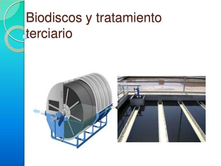 Biodiscos y tratamiento terciario <br />