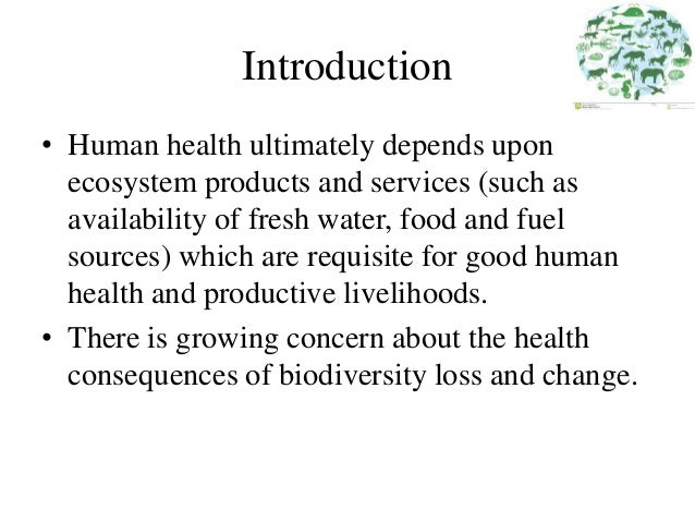 Biodiveristy and human health