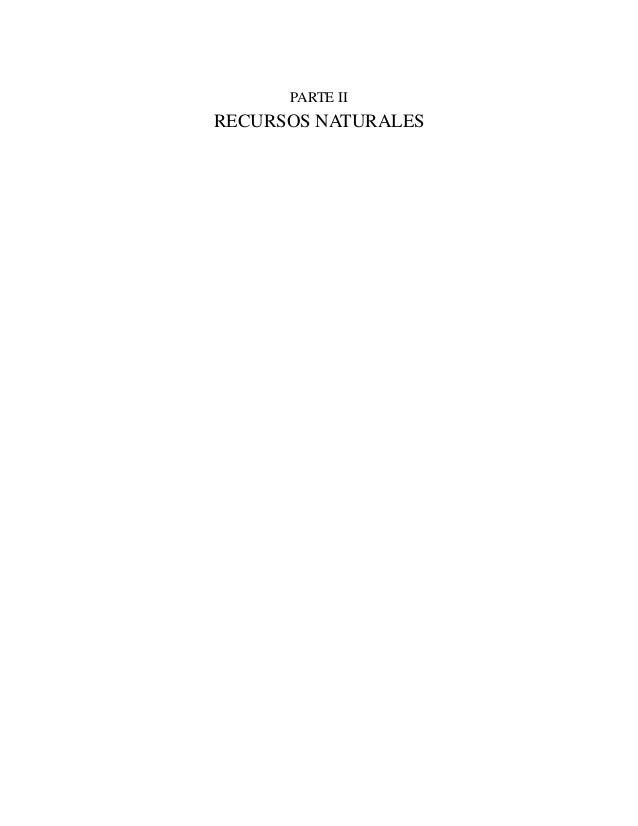 PARTE II  RECURSOS NATURALES