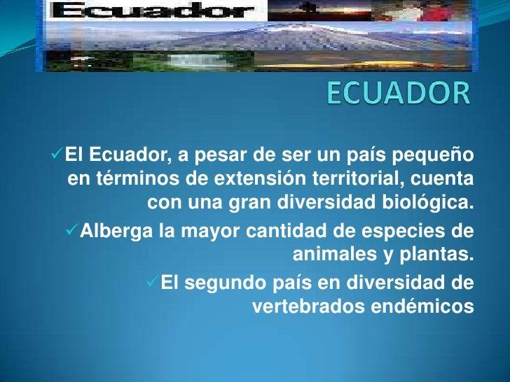 UTPL_Biodiversidad Del Ecuador