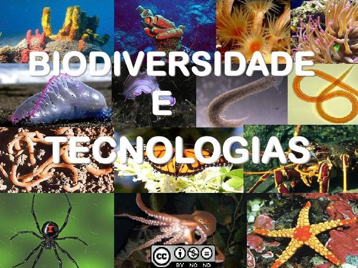 BIODIVERSIDADE       E TECNOLOGIAS