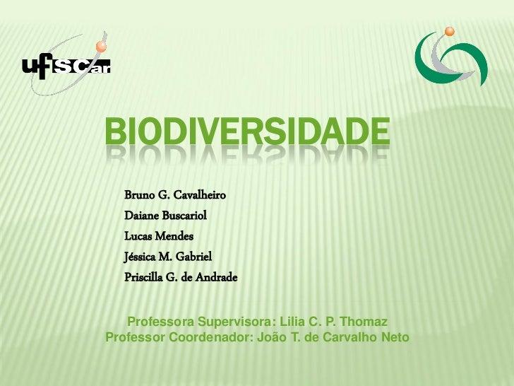 BIODIVERSIDADE   Bruno G. Cavalheiro   Daiane Buscariol   Lucas Mendes   Jéssica M. Gabriel   Priscilla G. de Andrade   Pr...