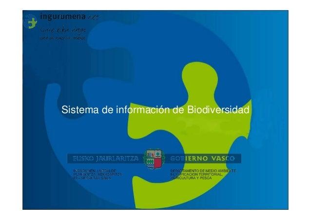 Sistema de información de Biodiversidad