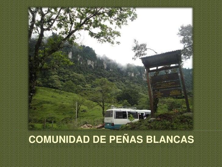 Comunidad de Peñas Blancas<br />