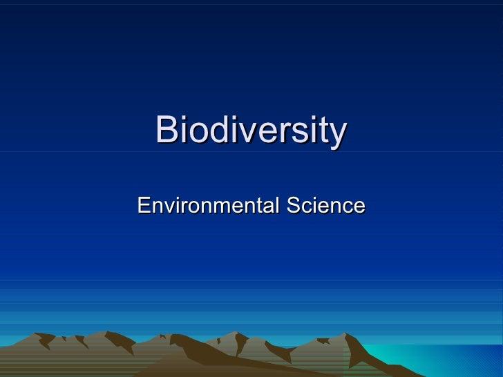 Biodiversity Environmental Science