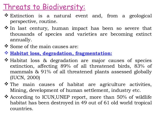 threats to biodiversity hotspots Hotspots of biodiversity are regions containing high that are also facing threats of rapid although these hotspots represent just over 2% of the.
