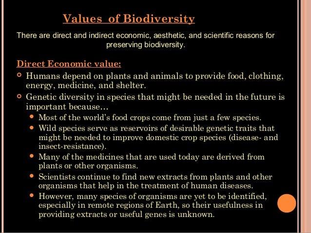the value of biodiversity pdf