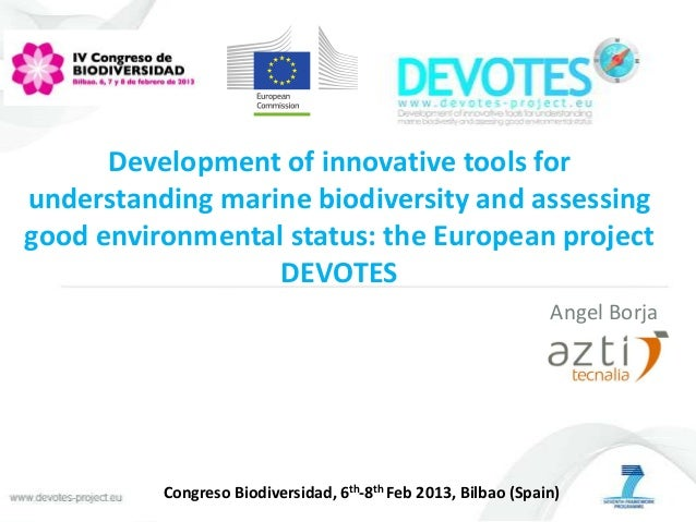 Development of innovative tools forunderstanding marine biodiversity and assessinggood environmental status: the European ...