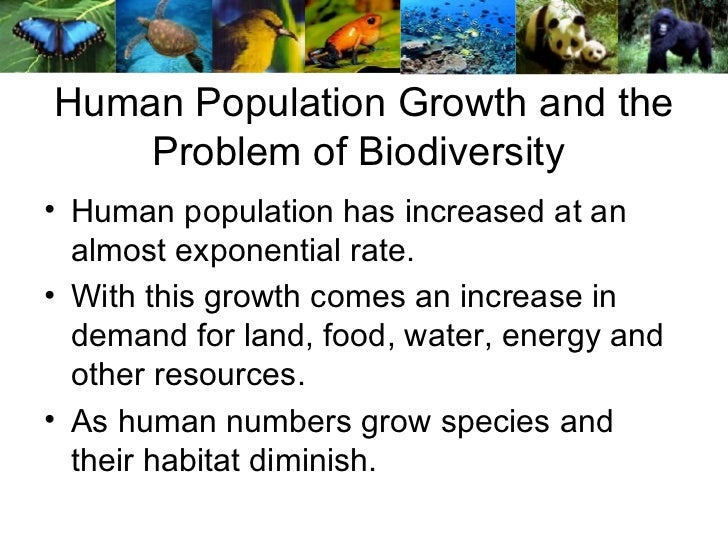 Human Population Growth and the Problem of Biodiversity  <ul><li>Human population has increased at an almost exponential r...