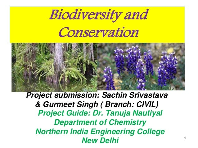 Biodiversity and Conservation Project submission: Sachin Srivastava & Gurmeet Singh ( Branch: CIVIL) Project Guide: Dr. Ta...