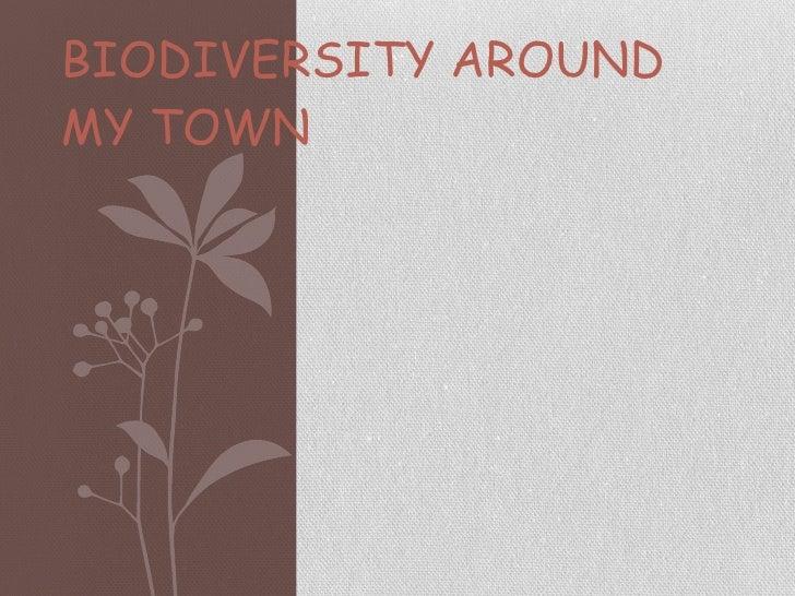 BIODIVERSITY AROUND MY TOWN