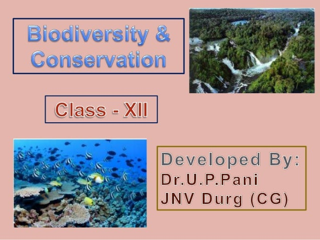 The term 'Biodiversity' was introduced by an American Biologist Edward Wilson.  Biodiversity refers to the variety of l...