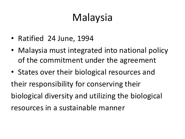 Malaysia national policy on the environment
