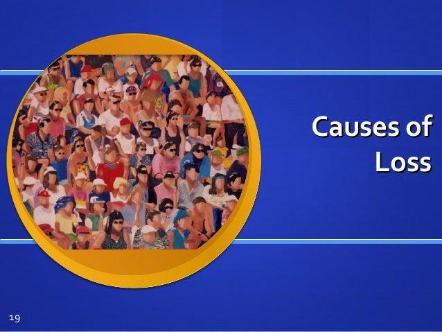 Causes ofCauses of LossLoss 19