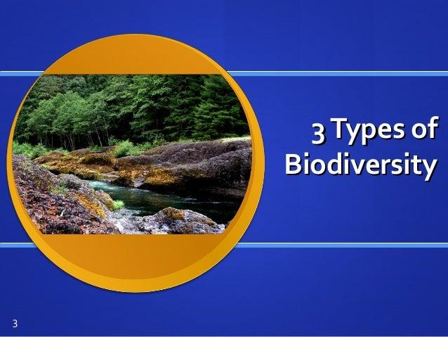 3Types of3Types of BiodiversityBiodiversity 3
