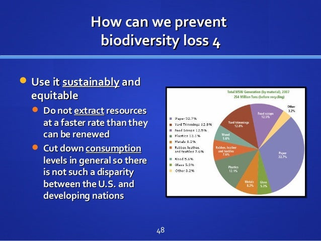 How can we preventHow can we prevent biodiversity loss 4biodiversity loss 4  Use itUse it sustainablysustainably andand e...
