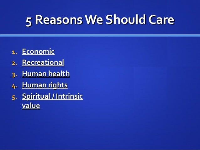 5 Reasons We Should Care5 Reasons We Should Care 1.1. EconomicEconomic 2.2. RecreationalRecreational 3.3. Human healthHuma...