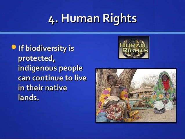 4. Human Rights4. Human Rights If biodiversity isIf biodiversity is protected,protected, indigenous peopleindigenous peop...