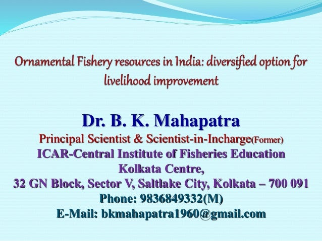 Biodiversity of ornamental fish in india issues of