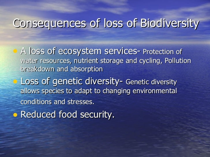 causes and consequences of reduced biodiversity Deforestation: causes, effects and control strategies million hectares per annum from 1990-2000 and decreased to 13 million causes, effects and control.