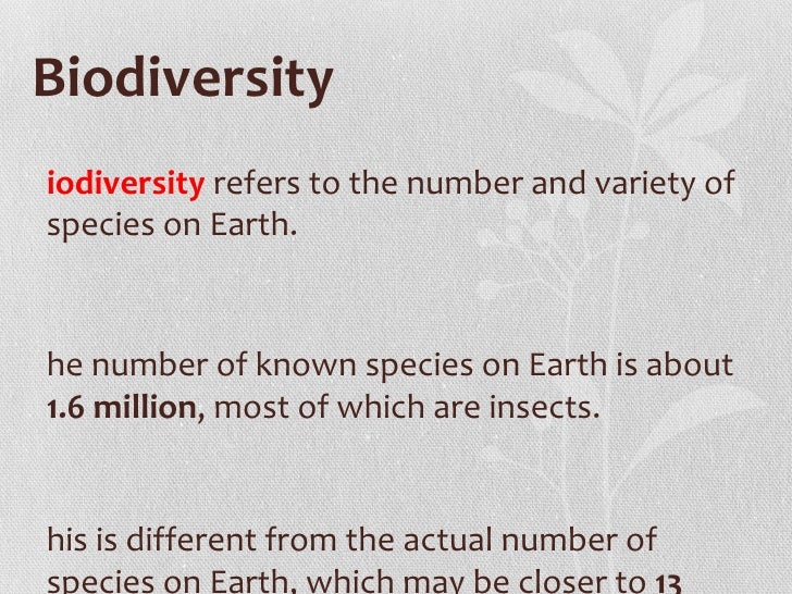 Biodiversity presentation for Soil in sentence
