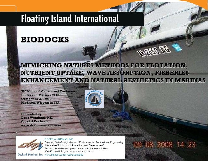 BIODOCKS MIMICKING NATURES METHODS FOR FLOTATION, NUTRIENT UPTAKE, WAVE ABSORPTION, FISHERIES ENHANCEMENT AND NATURAL AEST...