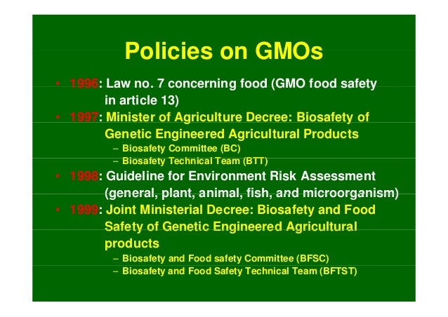 issues concerning genetic engineering in food production Herbicide use and resistance effects on the environment are a particular  concern with regard to gmo crops and food production one area of  development.
