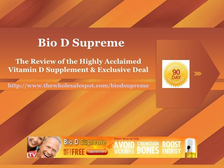 Bio D Supreme The Review of the Highly Acclaimed Vitamin D Supplement & Exclusive Deal http://www.thewholesalespot.com/bio...