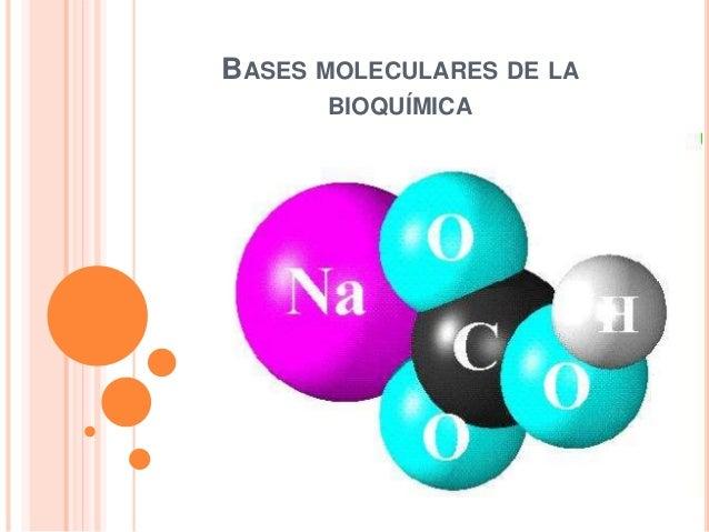 BASES MOLECULARES DE LA BIOQUÍMICA