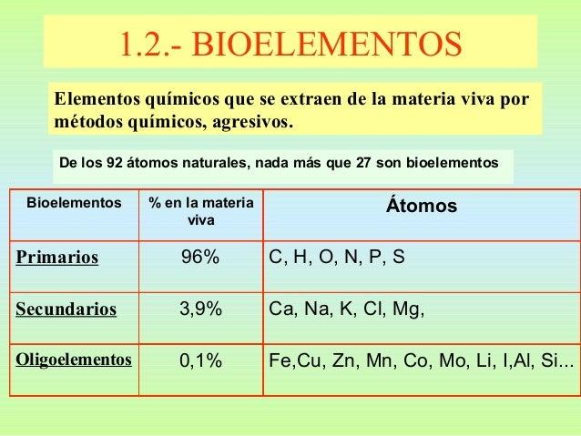 Resultado de imagen de bioelementos