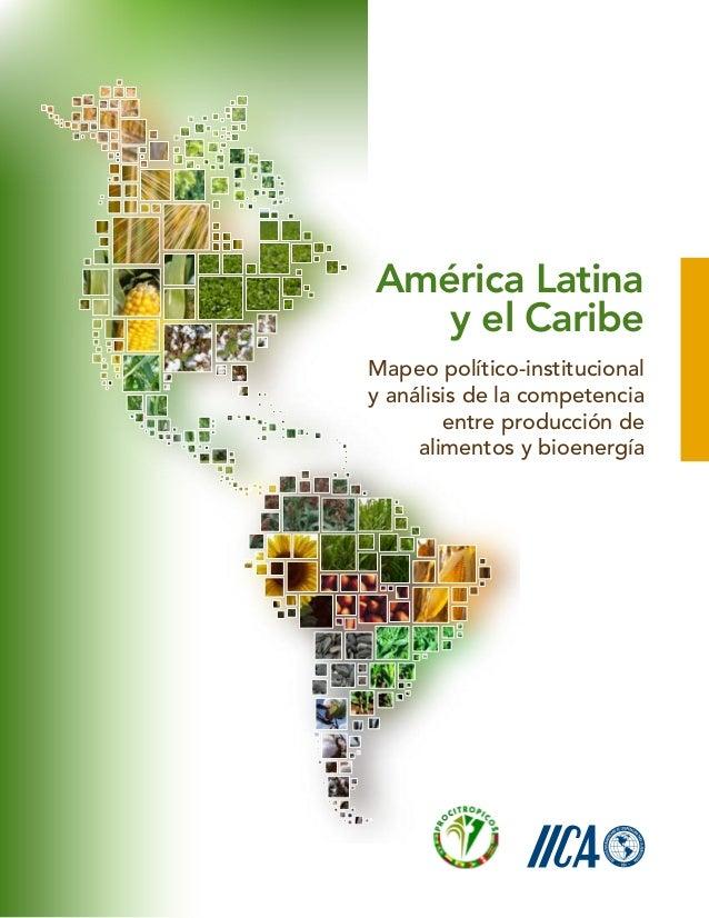 Mapeo político-institucionaly análisis de la competenciaentre producción dealimentos y bioenergíaAmérica Latinay el Caribe