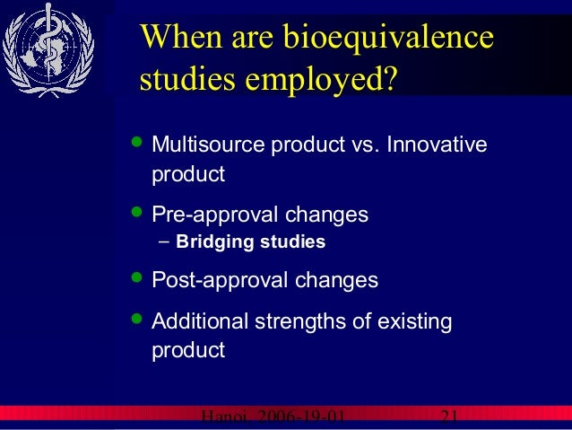 Waiver of In-vivo Bioavailability and Bioequivalence Studies