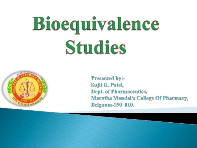  Definition Requirements/Objectives     of Bioequivalence Types   of Bioequivalence   In vivo   In vitro             ...