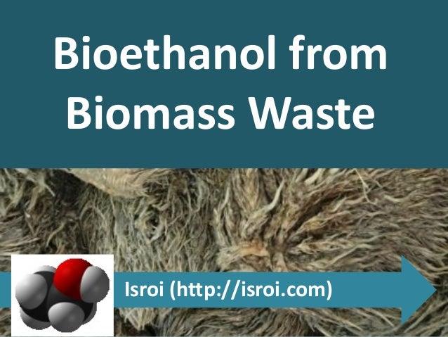 Bioethanol from Biomass Waste Isroi (http://isroi.com)