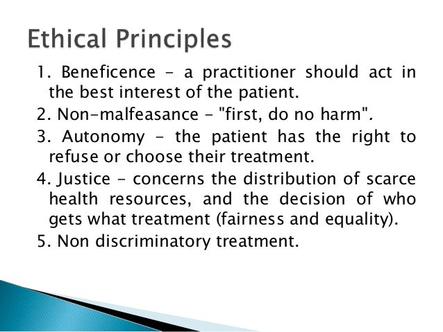 The Principle of Beneficence in Applied Ethics