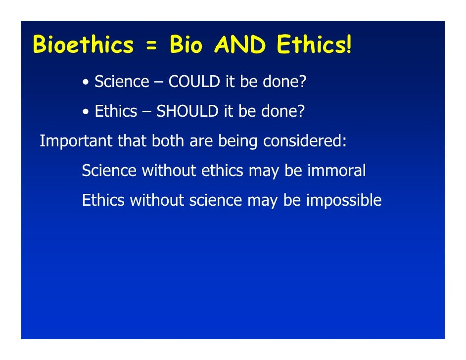Image result for bioethics could it be done